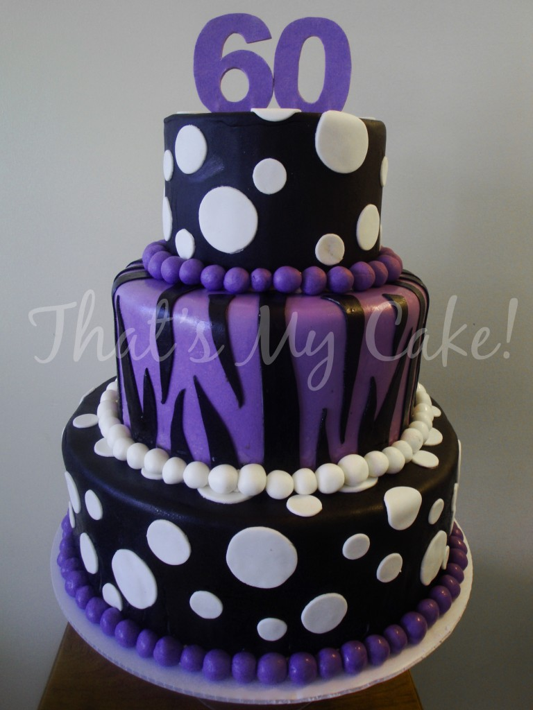 Purple And Black Birthday Cake That S My Cake