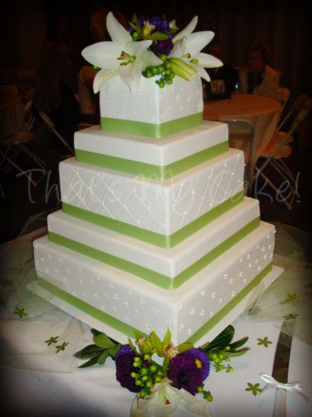 Apple Green And Plum Purple Wedding Cake That 39 S My Cake