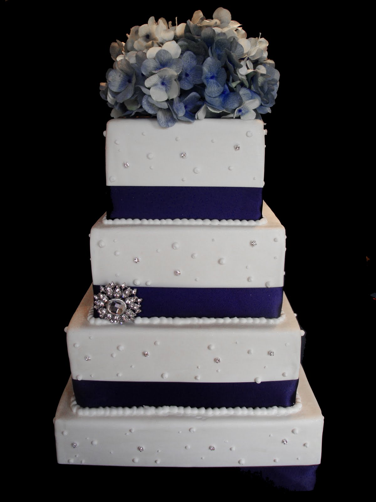 Gallery For Dark Blue Wedding Cake